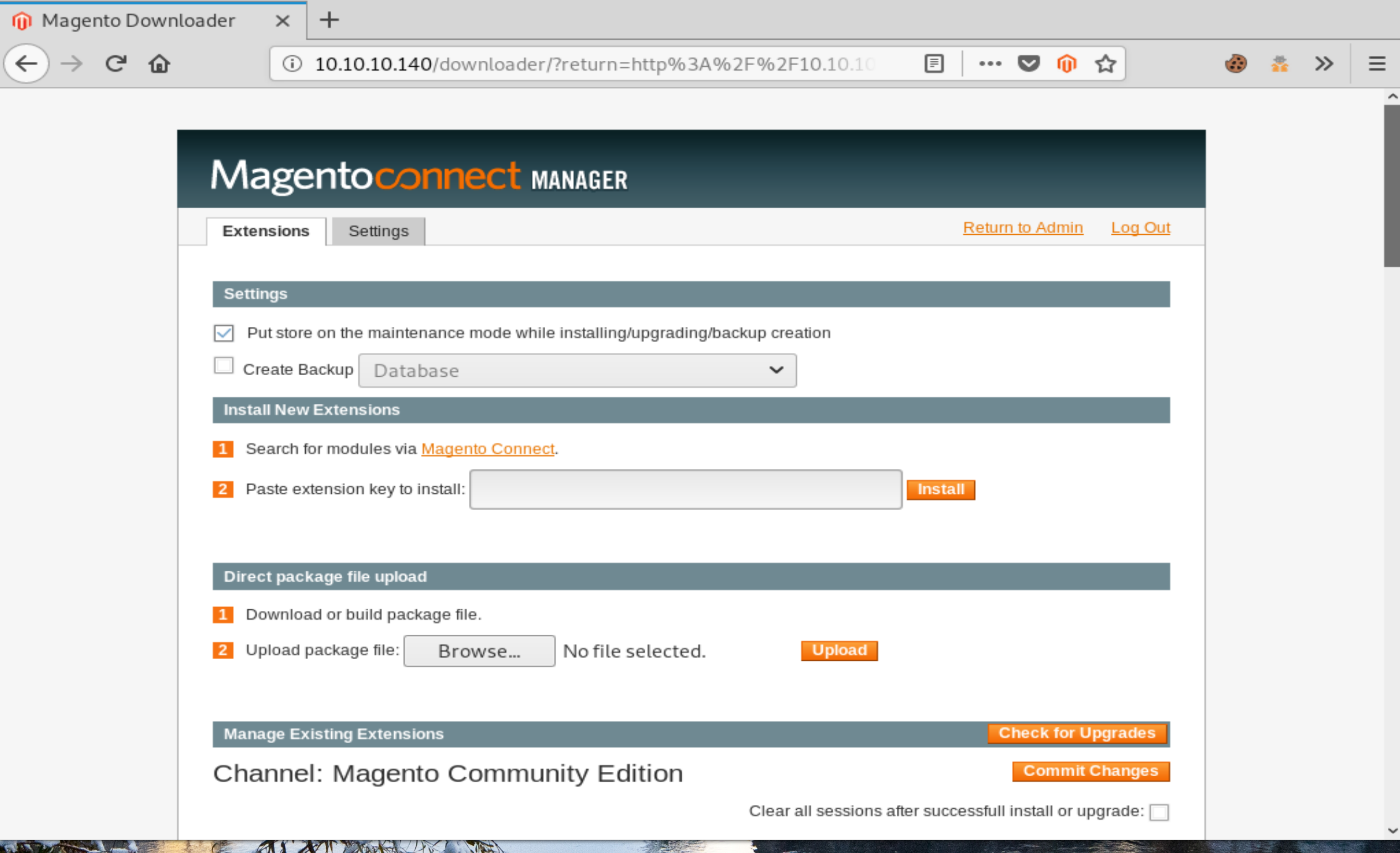 Magneto Connect Manager.