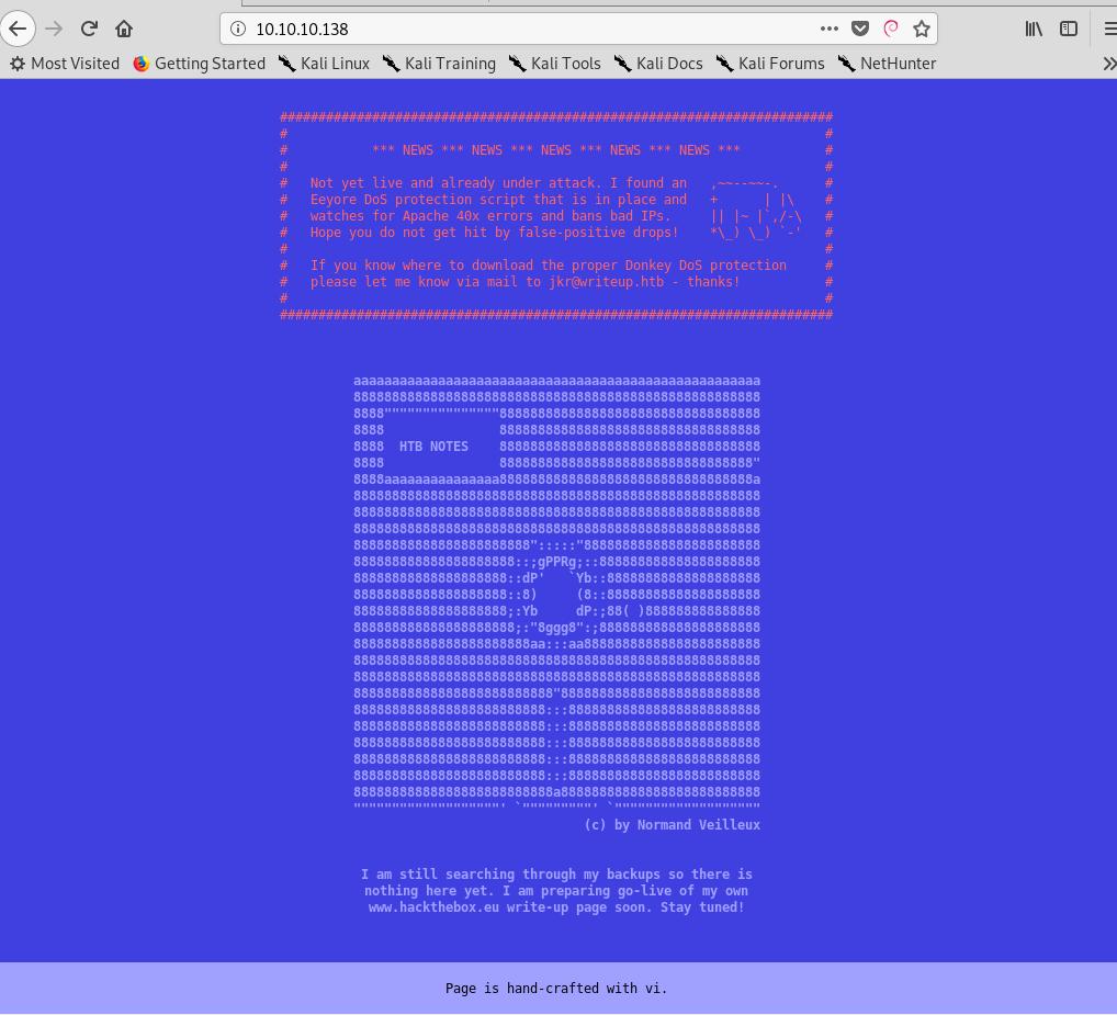 Hack The Box - Writeup · Ryan Kozak